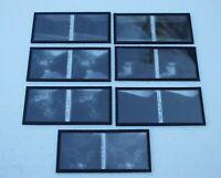 Sept plaques verre 6 X 13 stéréoscopique Doubs Ornans La Loue