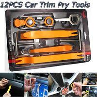 12Pcs Car Radio Door Clip Panel Trim Dash Plastic Audio Removal Pry Kit Tool Set