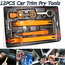 12Pcs Car Radio Door Clip Panel Trim Dash Plastic Audio Removal Pry Kit Tool Set