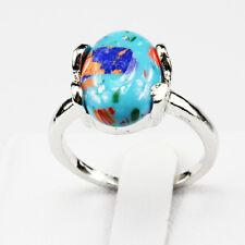 Malachite Gemstone Fashion  Jewelry 925 Silver Men Women Ring Size 7