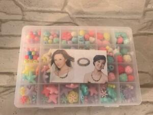 Children DIY Bead Set, DIY Bracelets Necklaces Beads for Bead Kids Bead Necklace