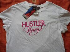 HUSTLER Clothing Hustler Honey Rhinestone T-Shirt - WHITE - XL BNWT