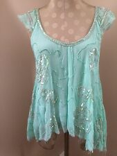 Nwt Free People Mint Sequin Top XS/TP $168