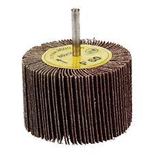 60 Grit Flap Wheel Disc Shaft Mounted Abrasive Sanding Drill 80mm X 50mm