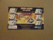 AHL Norfolk Admirals 2001-2002 Hockey Magnet Schedule