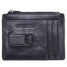 Brand New Mens Wallet Genuine Leather Money Clip Thin Slim Front Pocket Wallet