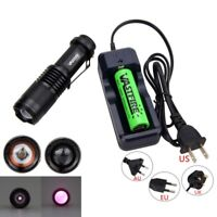 SK98 5W 940nm Zoomable Infrared Night Vision LED Lamp Flashlight Tactical 18650