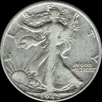 "A 1942 P Walking Liberty Half Dollar 90% SILVER US Mint ""Average Circulation"""