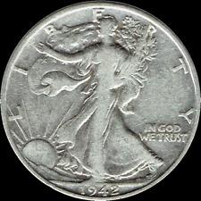 "A 1942 P Walking Liberty Half Dollar 90% SILVER US Mint ""Average Circulation"""