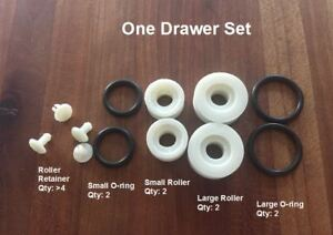 roller set for steelcase tanker desk drawer o-ring style
