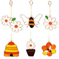 Mini Bee & Daisy Suncatchers Home Garden Window Hanging Decor Mobile Sun Catcher