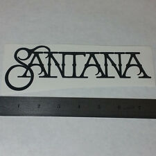 SANTANA Vinyl DECAL STICKER BLK/WHT Rock Metal BAND Logo Guitar Woodstock Carlos