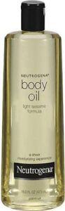 Neutrogena Body Oil Light Sesame Formula a Sheer Moisturizing Expirience 16 oz