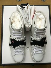 Nouveau Gucci Baskets Homme Baskets Chaussures High Top White Ace UK 8 US 9 42 Panther