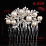 Women Silver Bridal Wedding Flower Crystal Rhinestones Pearls Hair Clip Comb