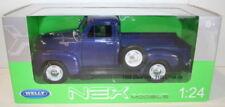 Modellini statici di auto, furgoni e camion pickup blu a scatola chiusa