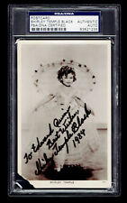 Shirley Temple Black Signed Postcard Slabbed PSA