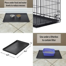 Pan 24 Inch Pet Dog Crate Replacement Plastic Liner Repl Tray Floor Cage