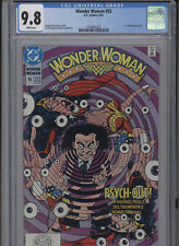 WONDER WOMAN #55 MT 9.8 CGC WHITE PAGES PEREZ COVER AND STORY DR. PSYCHO APP.
