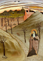 """oil painting on canvas"""" Saint Anthony Abbot Tempted by a Heap of Gold""""@N15796"""