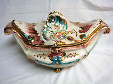 Vintage RIGO of Brussels SOUP TUREEN #159 Colorful & Ornate - Large & Heavy