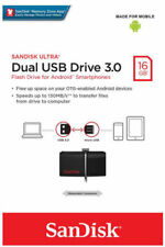 SanDisk 16GB OTG Ultra Dual USB 3.0 Micro USB Flash Android PC Memory Drive New