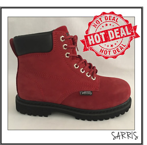 LADIES SAFETY WORK BOOTS LACE UP STEEL TOE CAP