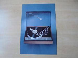 NOS Original Prospekt/Catalog für Unamco T1 Schwedischer High End Plattenspieler