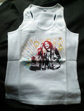 T- Shirt / Achselshirt - COCA COLA Band Motiv Gr. M in Weiss for Girls  / NEU