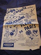 Partition La guitare à Chiquita Marjolaine Fleur de Paris Maurice Chevalier 1943