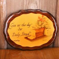 Give Us This Day Our Daily Bread Wood Wall Plaque Sign Hanging Lords Prayer
