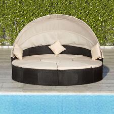 Polyrattan Sonneninsel Gartenliege Lounge Rattan Liege Gartenmöbel Gartenset