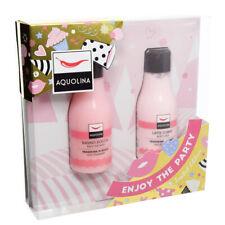 AQUOLINA Set Gift Woman Shower Bath Strawberry Woods 125ml Cream Milk Body