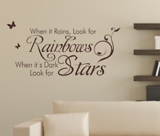 When it rains look for rainbows Wall Quotes Wall Stickers UK 82