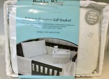 Brand New Bubba Blue Wish upon A Star 8 Piece Cot Set Baby Gift Boxed Basket