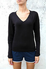 Pierre Cardin Women Long Sleeved Brown Casuals Jumper V neck XL STRETCH FIT NICE