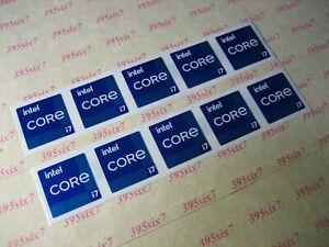 intel Core i7 11th Gen Sticker 18mm x 18mm - 10 PCS