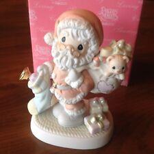 "Precious Moments ""Santa Figurine ""May Your Heart Be Filled With Xmas Joy"" NIB"