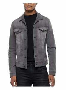 Replay Jeans Mens Hyperflex Bio Denim Jacket Medium Grey