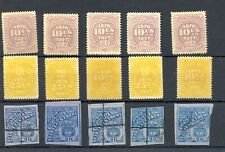 COLOMBIA - PERU - 15 STAMPS TELEGRAPH / BACK OF BOOK --F/VF