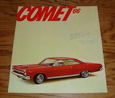 Original 1966 Mercury Comet Sales Brochure 66 Cyclone GT Caliente Capri