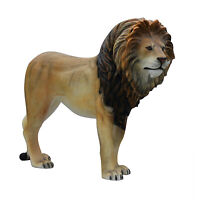 Life Size Lion King Statue Life Size Sculpture Zoo Animal Display Figure