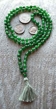 108 Jade Green Hand Knotted Yoga Mala Beads Necklace-Blessed & Energized
