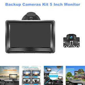 "5"" Digital Display Monitor Car Truck Rear View Backup Reverse Camera Cams Kit"