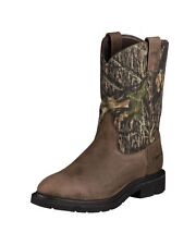 NEW! Men's Ariat Brown/Camouflage Waterproof Cowboy Work Boots Size 12