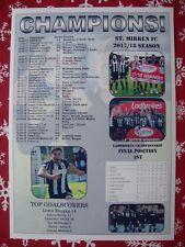 St Mirren Scottish Championship champions 2018 - souvenir print