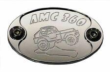 Aluminum Metal Car Badge Emblem fits JEEP CJ-5 with AMC 360 Engine E6026