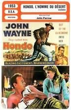 FICHE CINEMA : HONDO, L'HOMME DU DESERT - Wayne,Page,Bond 1953