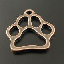 36057 Antiqued Copper Plated Funny Cute Animal Cat Dog Paw Pendant Charms 50pcs