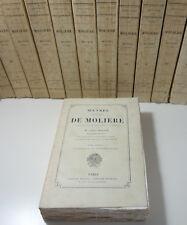 Oeuvres complètes de Molière 12/12 L. MOLAND gravures de Staal 1880 1885 Rare